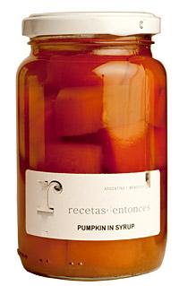 PICTURE:  ARGENTINA recetasdentonces PUMPKIN IN SYRUP