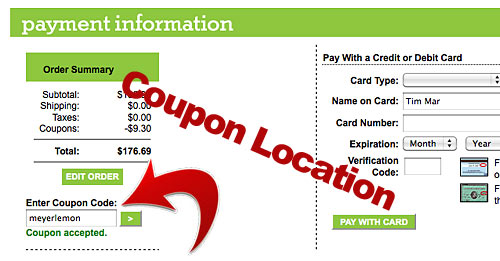 Coupon Code Location for Returning Users